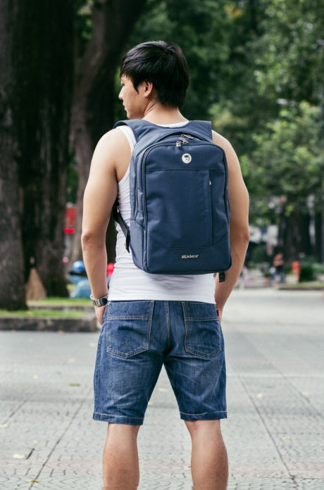 Balo Mikkor The Arthur Backpack (Màu Navy)